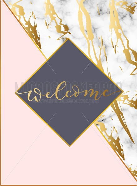 Modern Design Template With White Marble Texture And Blush Pink Background Elegant For Wedding Invitation Party Greeting Card Or