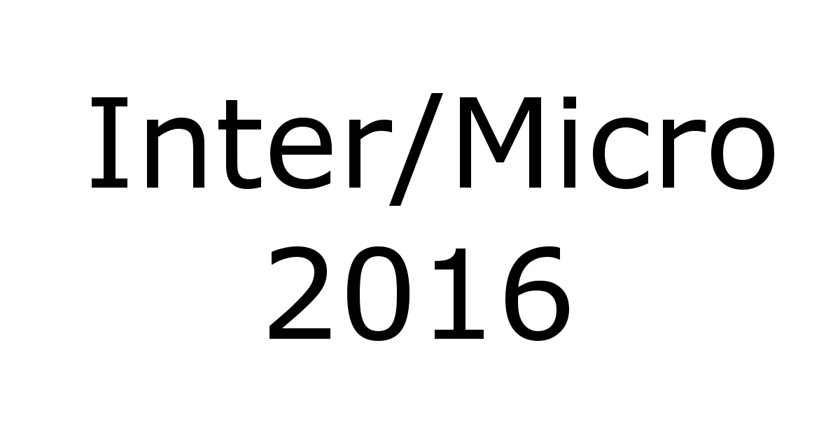 Microtrace Scientists to Present at Inter/Micro 2016