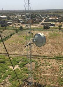 A Full Outdoor Microwave Link installed for ISP in Iraq with 880Mbps Full Duplex Capacity