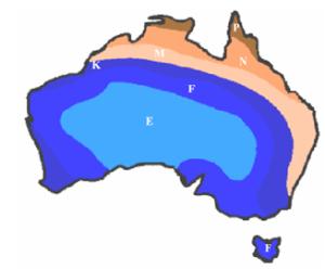 MMW Rain Fade Map Australia E-Band V_Band