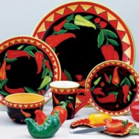 Discontinued Certified Intl Red Hot Dinnerware by Tracy ...