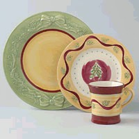 Discontinued Pfaltzgraff Pistoulet Holiday Dinnerware
