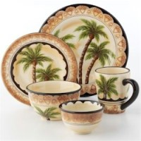 Discontinued Tabletops Unlimited Palm Tree Dinnerware