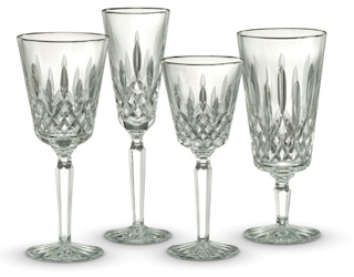 Waterford Crystal Lismore Tall Platinum Stemware