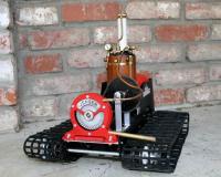 Homebuilt steam turbine powered tank