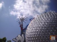 The Epcot wand being removed