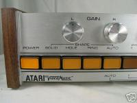 The Atari logo on the Video Music system