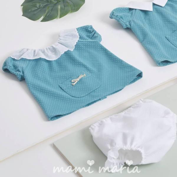 Conjunto Niña Colección Turquesa de Mami Maria