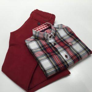 camisa cuadros escoceses