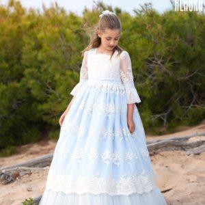 vestido comunion alhuka azul