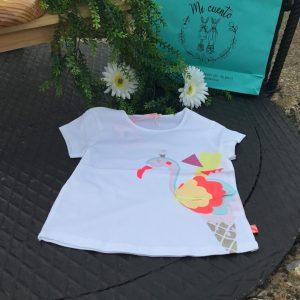 camiseta algodon cisne billieblush