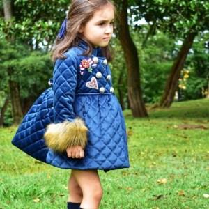 abrigo terciopelo marino niña