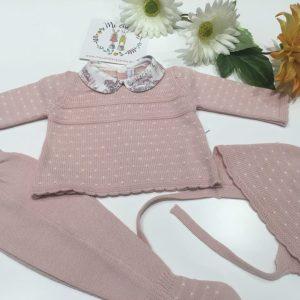 conjunto bebve rosa polaina de martin aranda 15005