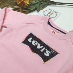 sudadera rosa levis rosa