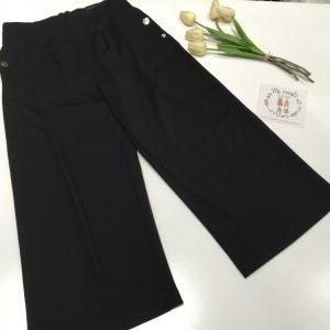 pantalon palazo tobillero negro sarabanda