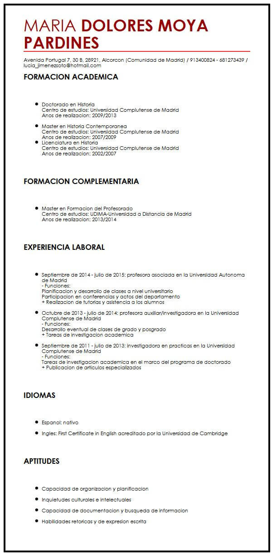 Ejemplos De Resume En Ingles Gabriela Lilian Domnguez