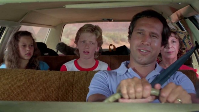 Driving a car in national lampoon's vacation