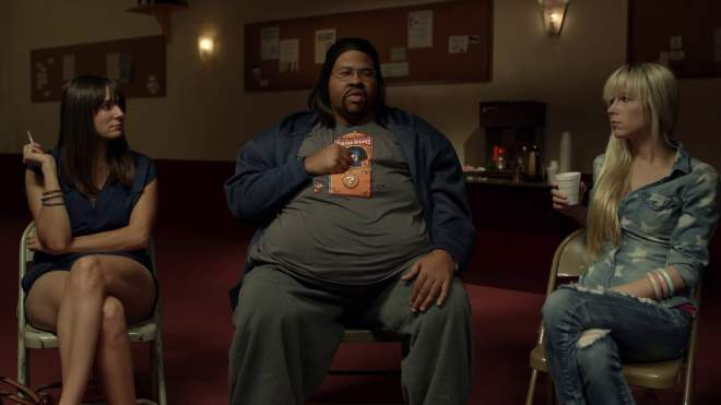 Key and Peele's character Wendell at a addict meeting