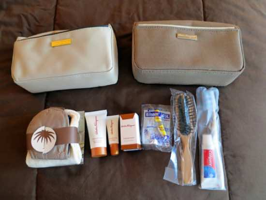 Airline business class amenity bag