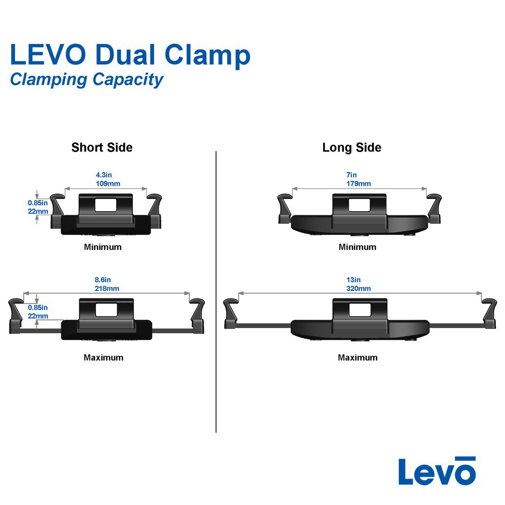 LEVO Dual Clamp Tablet Cradle for LEVO G2 Tablet Stands by