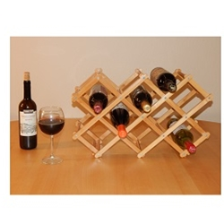 mid america outdoor supply llc ma330 8 bottle bamboo tabletop wine rack