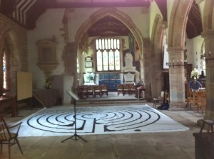 Doesn't the labyrinth look good in our North aisle?!