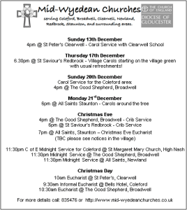 Midwyedean Christmas Services