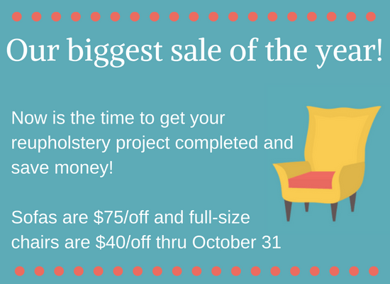 Our biggest sale of the year! fall