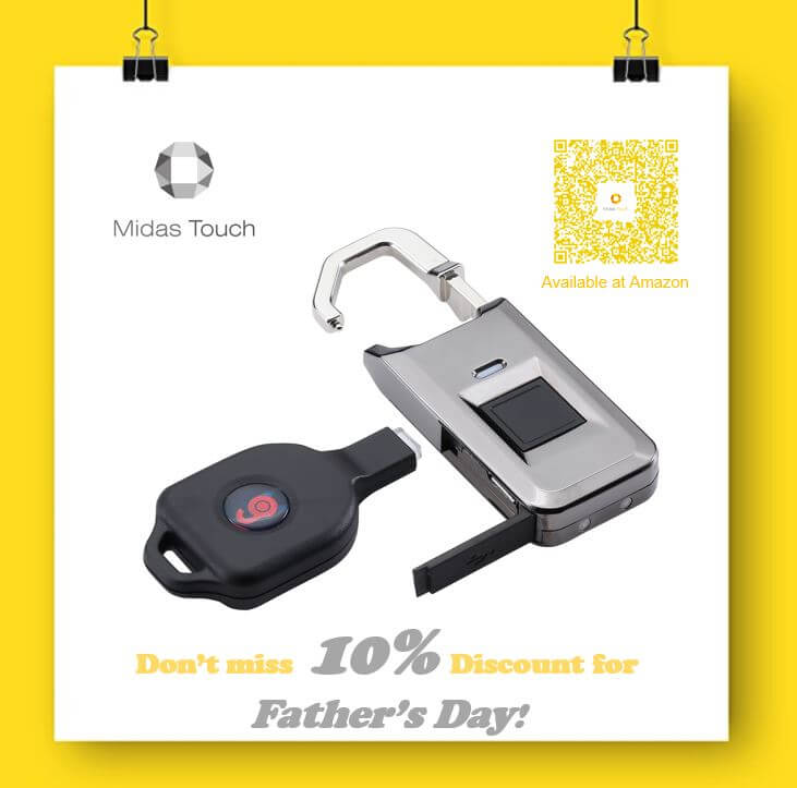 MPL-2000 Ultra-light fingerprint padlock with ikey