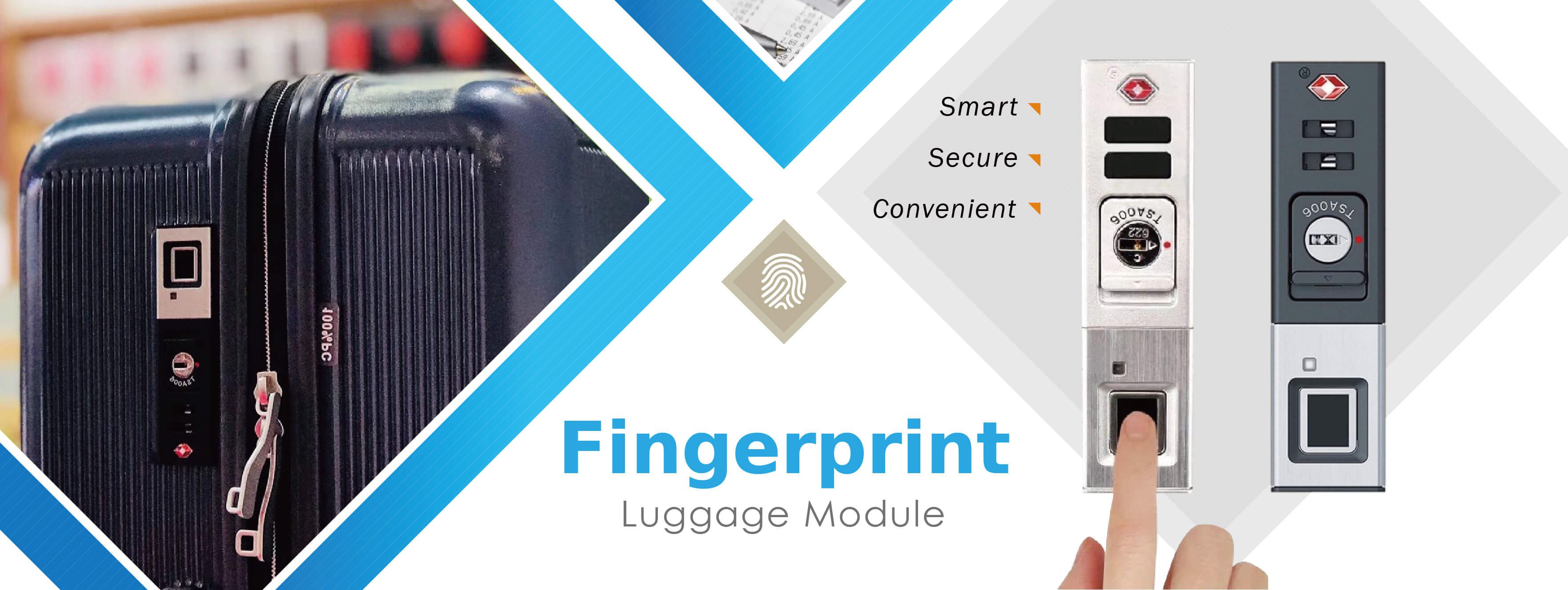 Smart Fingerprint TSA Fingerprint Lock | Midas Touch