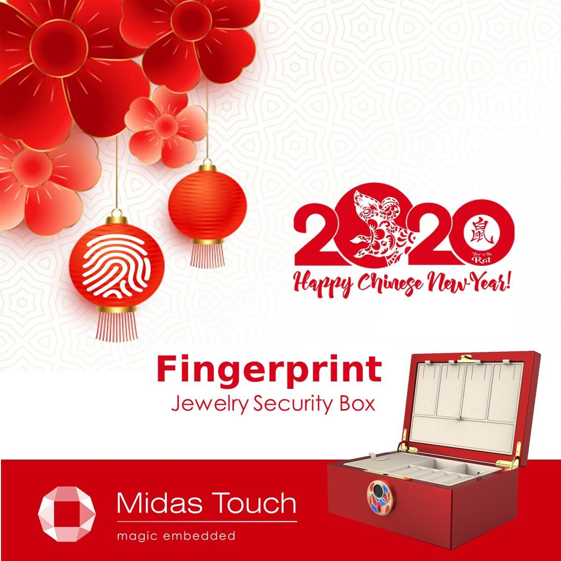 Fingerprint Jewelry Security Box | Midas Touch