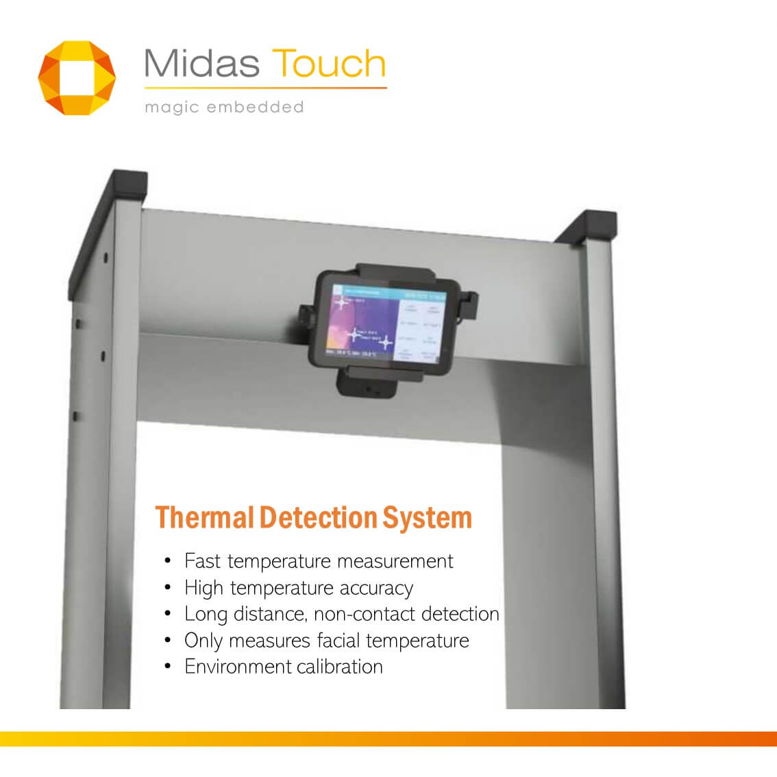 Where to put the thermal detection systems? | Mdias Touch