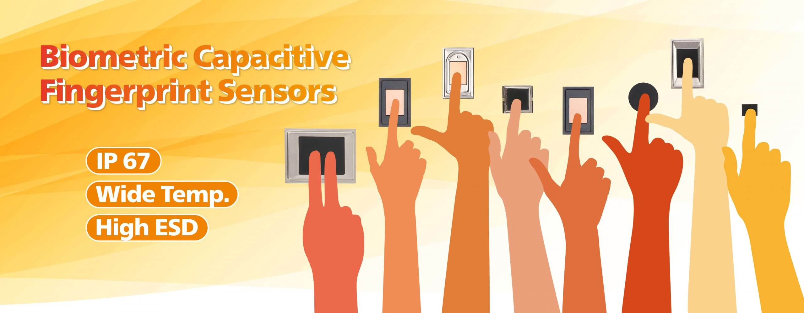 Capacitive fingerprint sensors with Wide temperature_Midas Touch
