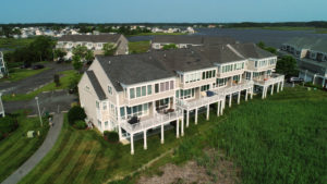 Real Estate Marketing shot of townhouses near the beach