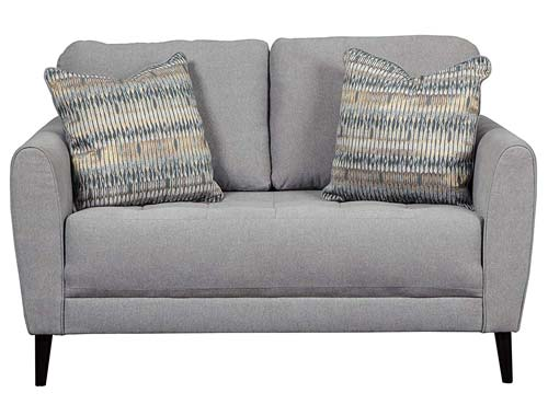 Ashley Furuniture Cardello Mid-Century Love Seat - Grey