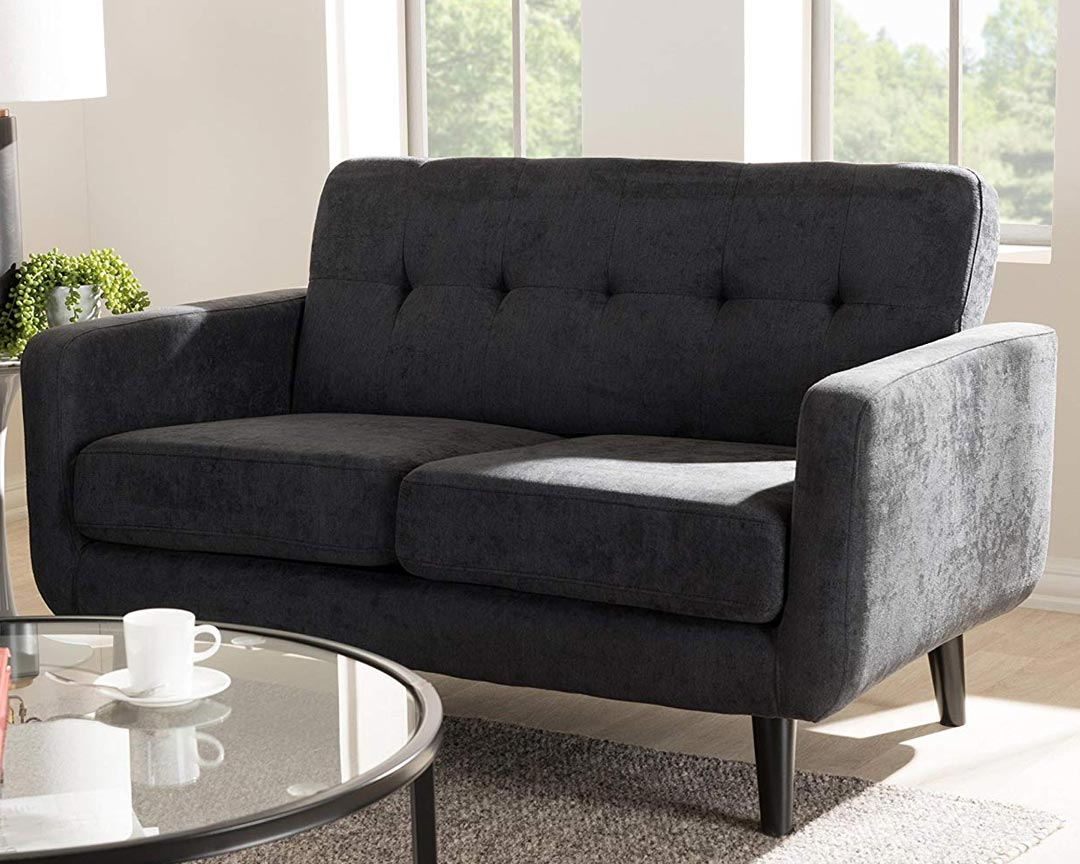 Baxton Studio - Carmena Loveseat Couch Featured
