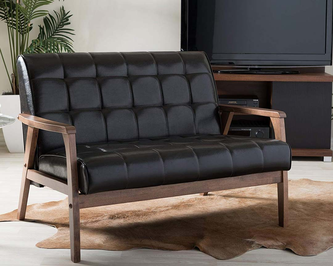 Baxton Studio Masterpiece Loveseat Mid-Century - Featured