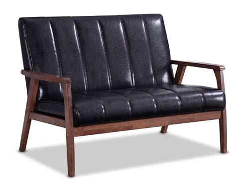 Braxton Studio Nikko Bench Mid-Century - Black