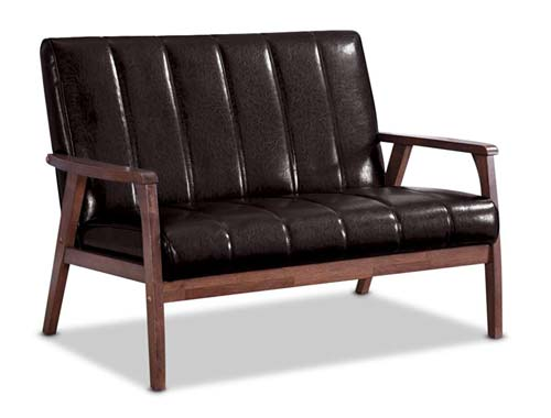 Braxton Studio Nikko Bench Mid-Century - Brown