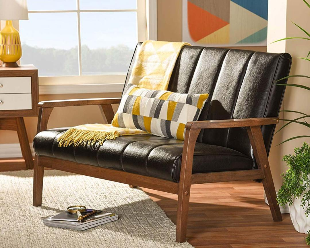 Braxton Studio Nikko Bench Mid-Century - Featured