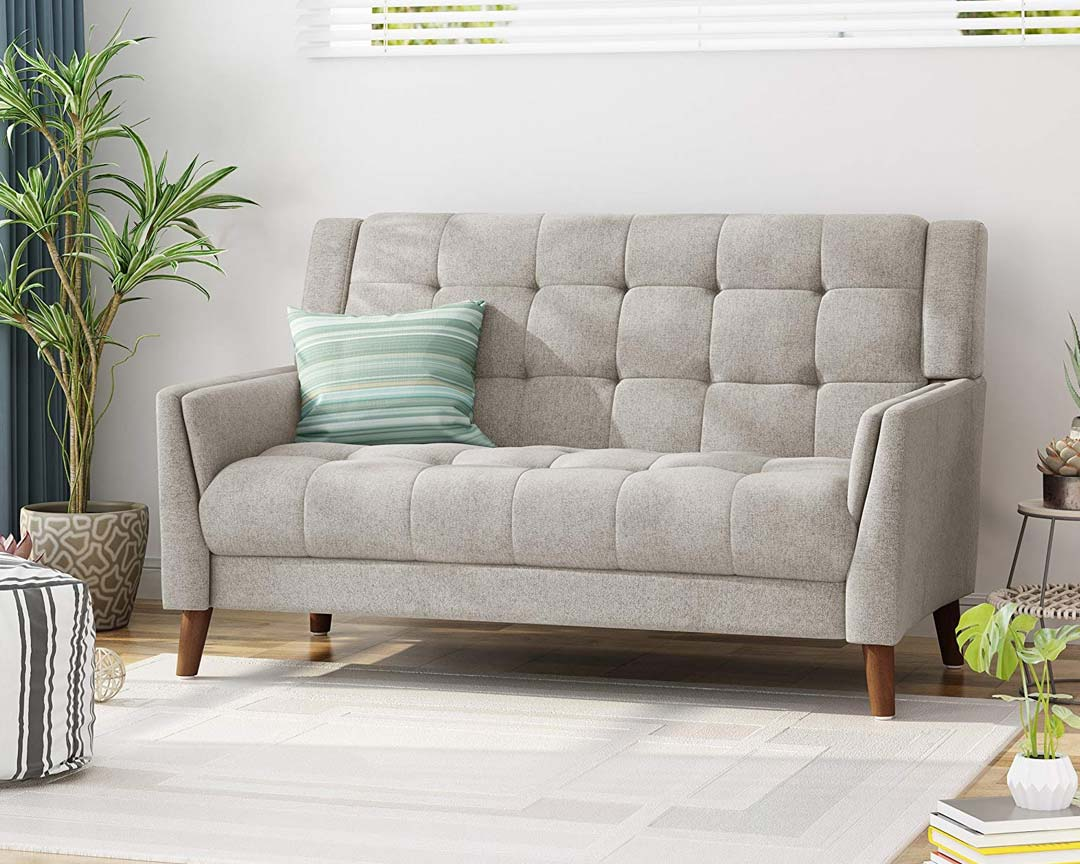Christopher Knight Home Evelyn Loveseat Mid-Century - Featured