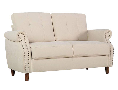 Container Furniture Direct - Briscoe - Midcentury Loveseat - Beige
