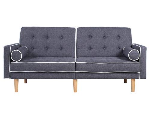 Divano Roma Furniture Splitback Tufted - Dark Gray