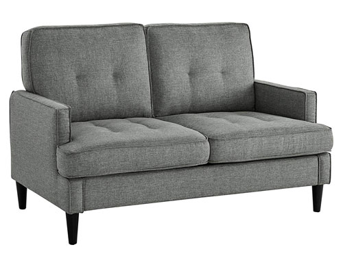 Dorel Living Tobie Loveseat Midcentury - Gray