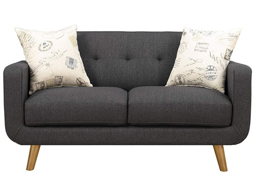 Emerald Home Furnishings Remix Love Seat - Charcoal