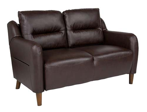Flash Furniture Newton Hill - Two-seat Sofa Midcentury - Brown