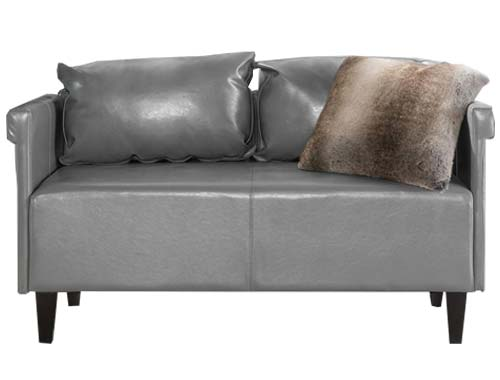 GDF Studio - Harbison Loveseat - Mid-century Sofa - Gray