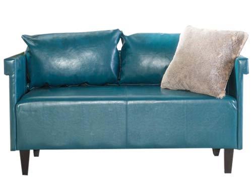 GDF Studio - Harbison Loveseat - Mid-century Sofa - Teal