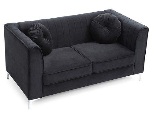 Glory Furniture Delray Loveseat Mid-Century - Black