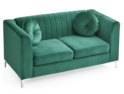Glory Furniture Delray Loveseat Mid-Century - Green